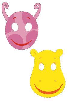 Máscaras para festa da Peppa Pig e Backyardigans para imprimir.   Vim postar algumas máscaras para brincar com a criançada dos personagens... Peppa Pig, Monster University, Ideas Para Fiestas, Coloring Pages To Print, Animated Cartoons, Toddler Activities, Party Favors, Pikachu, Halloween Costumes