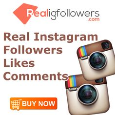 BUY REAL INSTAGRAM FOLLOWERS, LIKES & COMMENTS