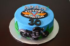 Victory motorcycle cake