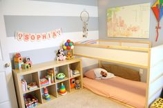 Considering the Montessori approach for your child? Check out our Montessori Baby Room collection and get inspired! Toddler Bedroom Sets, Toddler Bunk Beds, Kid Beds, Girls Bedroom, Boy Bedrooms, Cama Montessori Ikea, Montessori Toddler Rooms, Montessori Bedroom, Floor Bed Ikea
