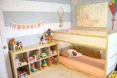 Aprenda a fazer um quarto montessoriano com colchão no chão.