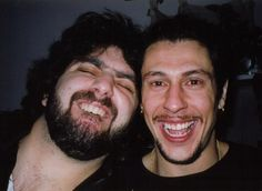 Mike Portnoy & Mike Mangini in 1999 posted to facebook by Mike Portnoy.... Mike Mangini, The Winery Dogs, Mike And Mike, Dream Theater, Famous Musicians, Rock Bands, Rock N Roll, Guys, Concert