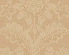 Wallpaper Harriet, Yellow.  Harriet Wallpaper is a medallion wallpaper linked to New England's European heritage and design tradition. Medallion patterns are among the most classic of designs and have been around as wallpaper since the first pioneers came to New England. Harriet is printed using an engraving technique that produces a textile feel, making the room cosy and homely.