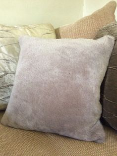 Sheepskin cushion 18'' square with suede reverse