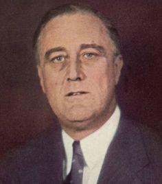 Hij was de 32e president van de Verenigde Staten van 1933 tot 1945. Met de New Deal initieerde hij een programma tegen de sociale en economische gevolgen van de Grote Depressie (Economische crisis).