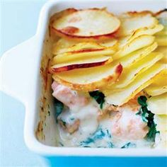 Salmon, spinach and dill potato bake making this again tonight it was soooo yummy and such an easy supper dish