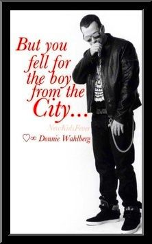 @donniewahlberg YES I DID SIR. LOVE YOU