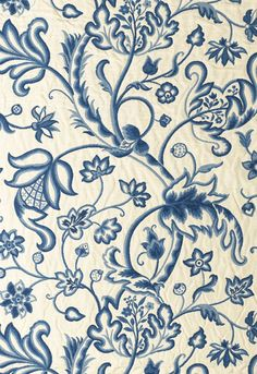 3344034 Georgica Floral Marine Blue by F Schumacher