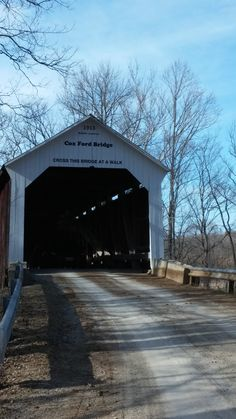 Coxford Covered Bridge entrance from the south