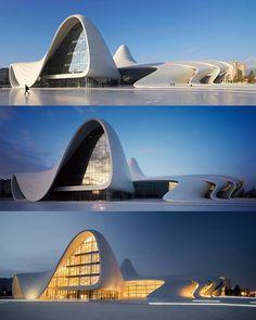 ▪ Heydar Aliyev Center by Zaha Hadid Architects Zaha Hadid Architecture, Parametric Architecture, Innovative Architecture, Famous Architecture, Architecture Magazines, Chinese Architecture, Futuristic Architecture, Architecture Design, Architecture Office