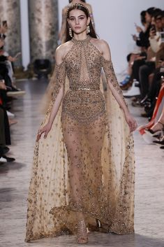 Elie Saab Pays Homage to Egypt in his 2017 Spring Collection with a Gorgeous Domyat Inspired Gown