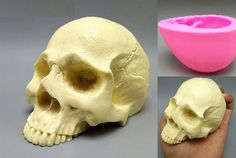1 x Skull mold. Easy use and clean. Diy Silicone Molds, Resin Molds, Skull Mold, Chocolate Candy Molds, Gypsum, Cake Mold, Fondant, Candles, Skeleton