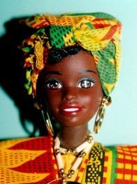 The 6th Face of Black Barbie  ~  Mold: Shani - Yr: 1990 (My Kirsten was born March 10!) | This beauty is from the Dolls of the World Collection. She represents Ghana.