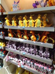 Pokemon Photos from Tokyo - Dragonite Charizard Mewtwo Sylveon plushie at Pokemon Center Tokyo