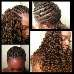 Crochet braids freetress gogo curl braid pattern
