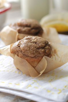 Whole Wheat Banana Nut Muffins - Live Simply