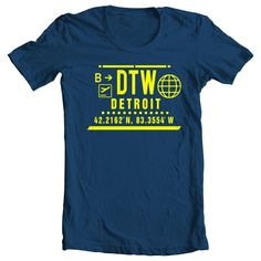 DTW CLEAR PORT T-SHIRT - NAVY AND WHITE #DETROIT #DTW #MICHIGAN #TIGERS #LIONS #REDWINGS #SPARTANS #WOLVERINES #BRONCOS #MICHIGANSTATE #EASTERNMICHIGAN #WESTERNMICHIGAN #PISTONS via A HUNNIT YEARS. Click on the image to see more!