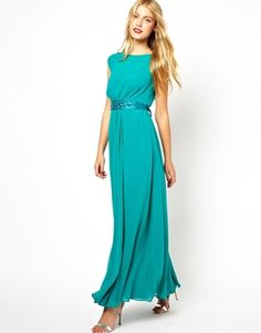 Magdalene twist front maxi dress