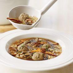 Mushroom Barley Soup with Mini Meatballs   Food & Wine