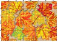 A Striking Fall Leaves Needlepoint Pattern to Download and Stitch: Day 253 of the 365 Needlepoint New Year's Resolutions Challenge