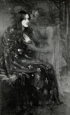 〜 The Silent Voice 〜 by Gerald Moira, 1898 Painting is silent poetry… by Plutarch – 120 AD) Art Noir, Renaissance Kunst, Arte Obscura, Arte Horror, Pre Raphaelite, Classical Art, Fine Art, Oeuvre D'art, Art Inspo