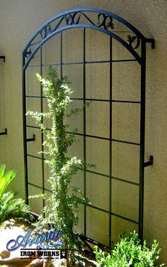Custom wrought iron trellis