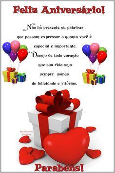 Feliz Aniversário!________________ Não há presente ou palavras que possam expressar o quanto você é especial e importante. Desejo de todo coração que ... - _♥○○Meus Pensamentos○○♥_ - Google+