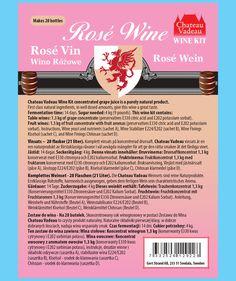 Wine Kits, Kit Rose, Grape Juice, White Wine, Preserves, Bottle, How To Make, Wine, Flask