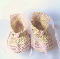Baby Booties knit PATTERN Posh Party Baby Shoes INSTANT DOWNLOAD