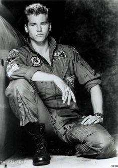 Val Kilmer in Top Gun...I love you because you're dangerous