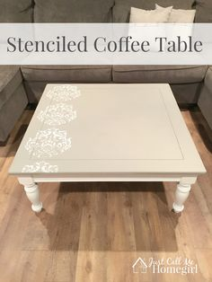 Genial Stenciled Coffee Table Makeover