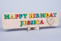 Personalized Puzzle  Happy Birthday Birthday by thewoodenhorse, $24.00