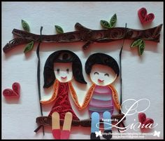 Lina's Handmade Cards: Quilled Couple