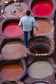 traditional Moroccan leather tanneries, Fes, Morocco | UNESCO World Hertitage Site