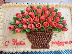 Sheet cake bouquet