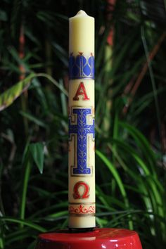 Symbols: The Paschal Candle is considered a symbol of Baptism. It is used to light the Candle of Baptism.