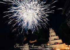 Magical fireworks at Villa Erba, Lake Como wedding. Event by ForeverAmoreWeddings picture by Flavio Bandiera #villaerbawedding #exclusiveweddingslakecomo #foreveramoreweddings