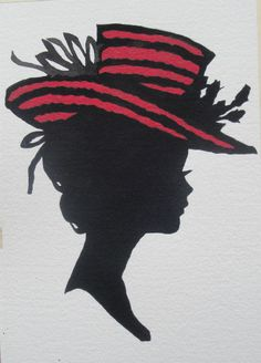 "Silhouettes - ""Kristin"" - Acrylic painting by Lorraine Skala - prints and notecards available at lorriskala@ aol.com"