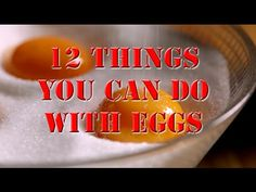12 things you can do with eggs - Really awesome and informative video! Cooking Tools, You Can Do, Recipies, Eggs, How To Get, Canning, Watch, Drinks, My Love