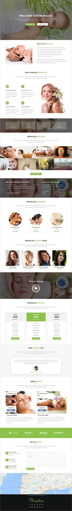 Monalisa is a perfect #Bootstrap HTML template for #spa, salon or beauty parlor #website with 6+ different homepage layouts download now➩ https://themeforest.net/item/monalisa-health-beauti-html-template/18525386?ref=Datasata