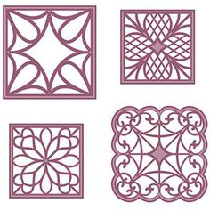 "Sue Wilson Dies - Configurations - Corner Squares $10 1 5/16"" to 1 11/16"". 8 piece die. 12/15/16 If Dies R Us had it, I'd be tempted to do 25% order today."