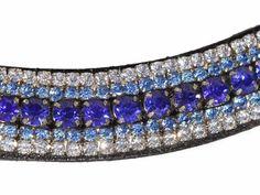 Mega Bling Browband Blue Crystal - Capaillíní Equestrian Collection