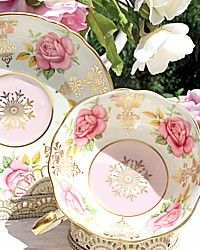 Vintage Paragon Cabinet Bone China Teacup Pink Rose-gold, gilt, hand painted, collector, green, yellow, gift, mom, bride,scallop,gift, luxurious,
