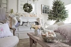 Christmas 2013 At Shabbyfufu....Simple Shabby Chic And French Elegance