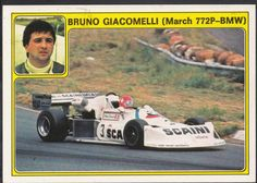 Panini Super Auto 1977 Sticker - No 32 - Bruno Giacomelli, March 772P BMW | eBay