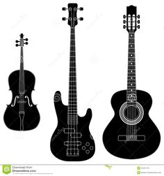 88e344d0 Free Image Silhouette Vector Illustration | String Instruments Royalty Free  Stock Image - Image: 31221176