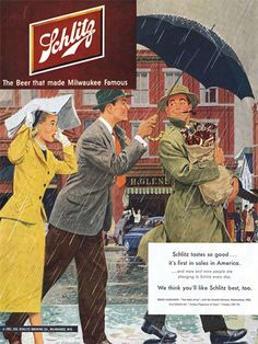 1950s ad. Damn, seems no one had any taste (buds) in the '50s. Schlitz was positively vile.