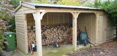 Large log shed and store