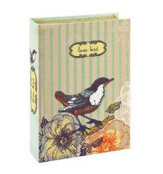 Caja libro Shabby Love Bird