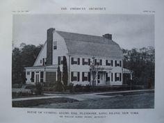 House of Cushing Adams, Esq., Plandome, Long Island, NY, 1913, William Albert Swasey